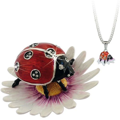 Ladybird Trinket Box and Necklace